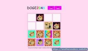doge2048.com is a useless website you can find with the useless web button on Another Useless Website, the most pointless, useless websites