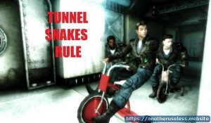 """Tunnel Snakes Rule - Butch DeLoria, the leader of the Tunnel Snakes sings """"Tunnel Snakes Rule!"""" """"Were the Tunnel Snakes, and we rule!"""""""