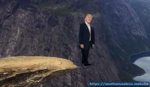 pushtrumpoffacliffagain.com Take out your frustrations with the President by pushing him off a virtual cliff, or into a virtual volcano.