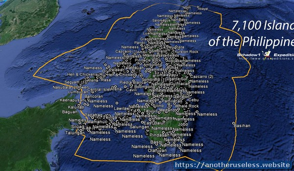 The Philippines has about 7,100 islands, of which only about 460 are more than 1 square mile in area.